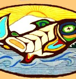 CoHo Salmon  28″x 38″  Skeins-35