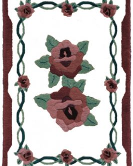 Roses 27″x 41″  Skeins-41