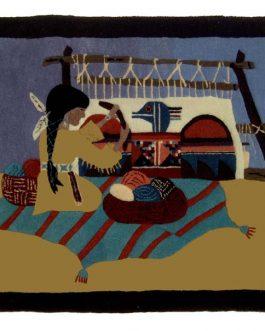Navajo Weaver 24″x 36″  Skeins-39