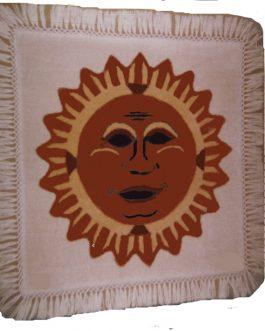 Sun God Pillow  24″x 24″  Skeins- 20