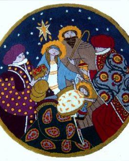 Nativity Scene   38″ Diameter  Skeins-35