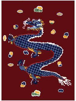 Flying Dragon  23″x 31″  Skeins-23