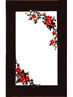 Floral Corners  36″x 51″  Skeins-66