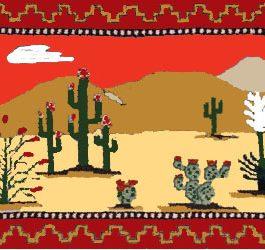 Desert Springtime Orange 19″x 29″  Skeins-26