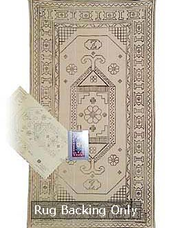 Caucasian Hearth mat 21″x 40″  Skeins-25